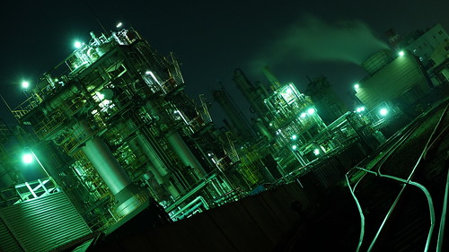 Kawasaki factory night scene 11