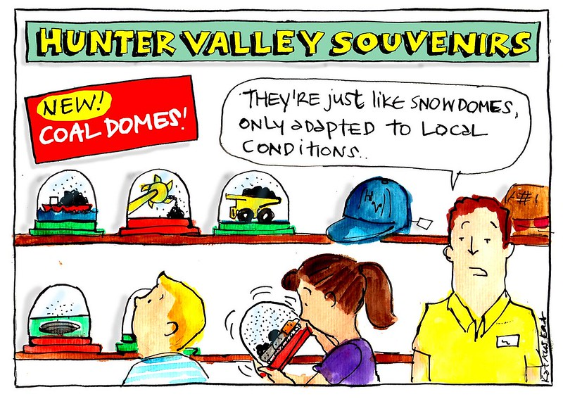 Hunter Valley coal domes cartoon