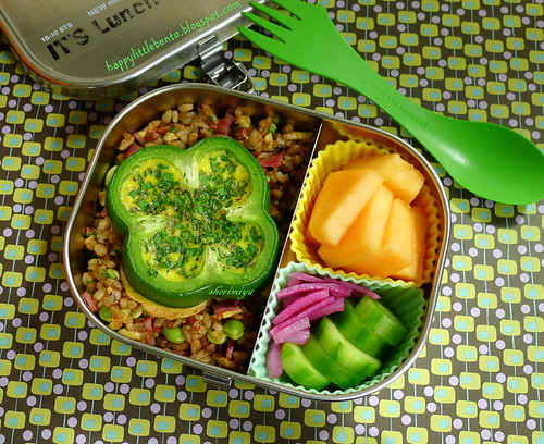 Shamrock Pepper Fried Rice Bento by sherimiya ♥