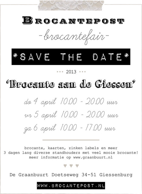 Brocantefair Brocante aan de Giessen april 2013