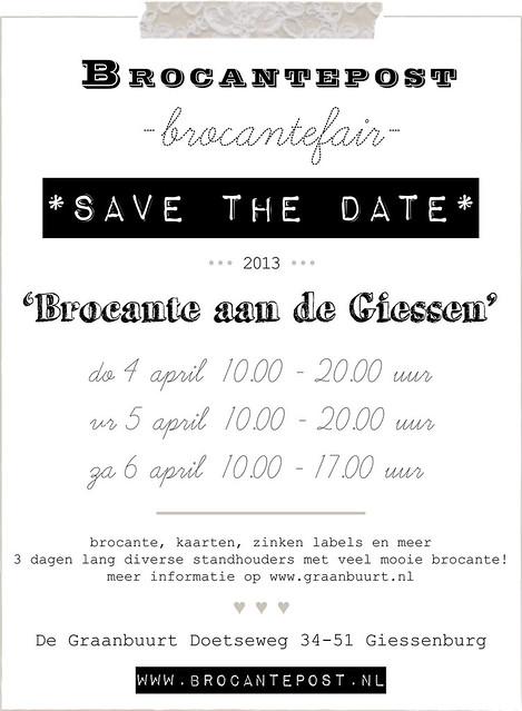 Brocantefair Brocante aan de Giessen april 2013