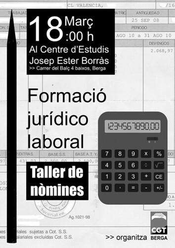 taller JURIDICOLABORAL CGT BERGA 18 MARÇ
