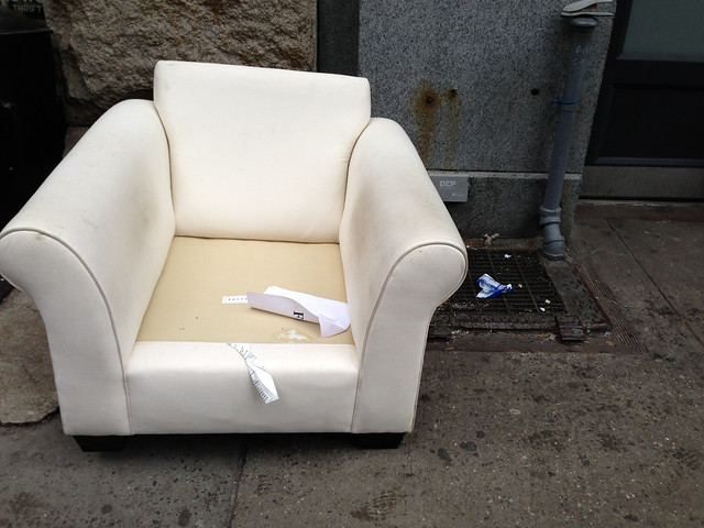 Dry Clean Me White Street Chair