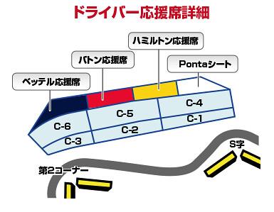 ドライバー応援席MAP(鈴鹿サーキットより)