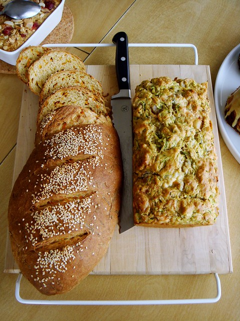 Sweet Potato Loaf & Blue Cheese Pear Zucchini Cake Salé