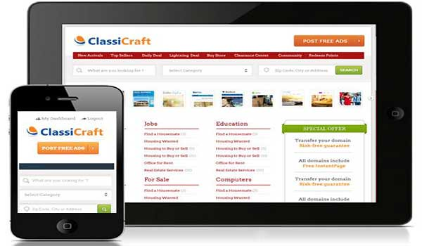 classified wordpress theme classicraft inkthemes