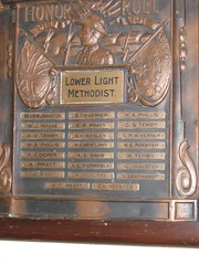 Lower Light Methodist Church WW1 Honor Roll