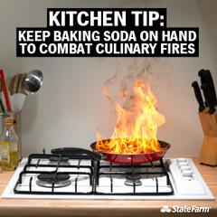 Kitchen Fire Safety Tip: Baking Soda