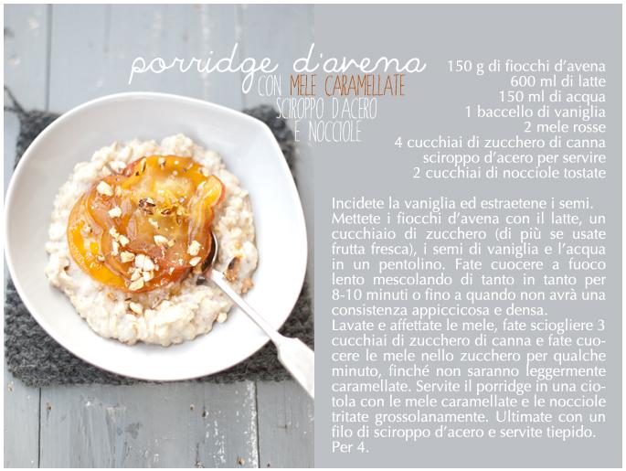 porridge ricetta
