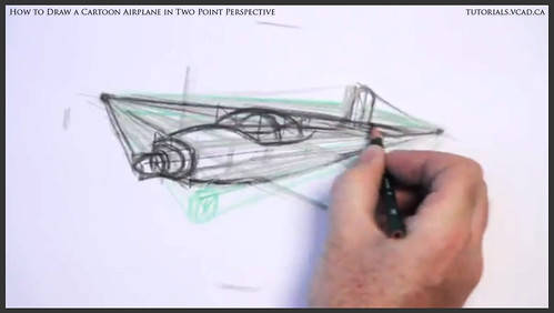 learn how to draw a cartoon airplane in two point perspective 019