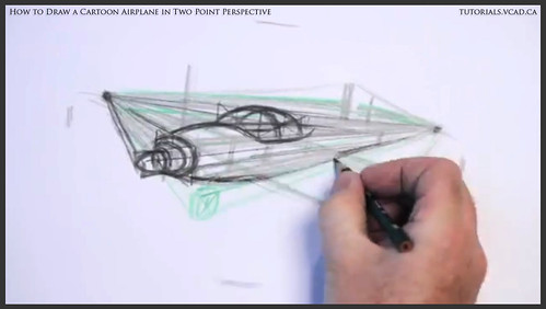 learn how to draw a cartoon airplane in two point perspective 017