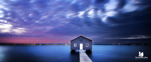 longexposure autumn sky panorama skyline sunrise australia panoramic perth westernaustralia swanriver boatshed crawley firstlight