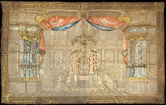 religious silk hangings, depicting the First and Second Temples in Jerusalem