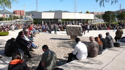 Imatge de la vaga de 12 hores de treballadors/es de @tv3cat el 21 de març