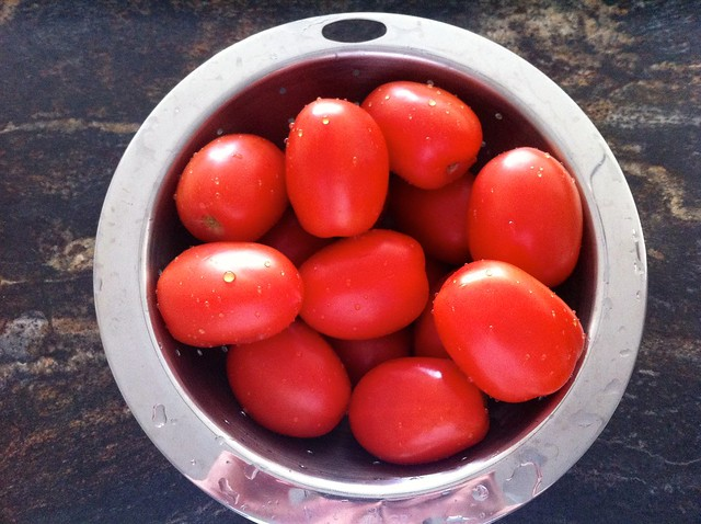Roma Tomatoes in Collander