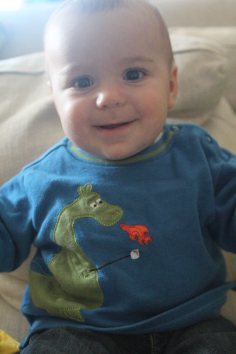 Elliott with Dragon Shirt