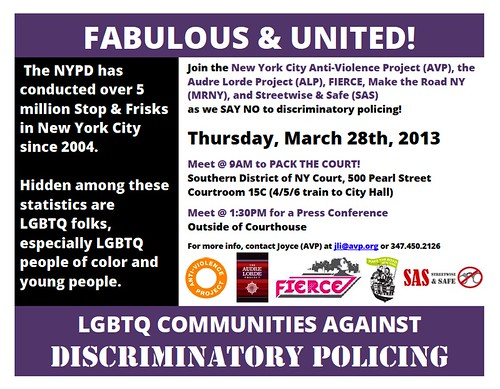 Fabulous & United: LGBTQ Communities Say No to Discriminatory Policing