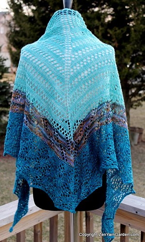 Ohm Shawl in Zen Yarn Garden