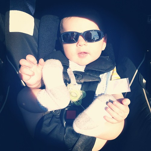 Mimi bought Lachlan his first pair of sunnies! Such a cool kid ☀ @kathynorberg