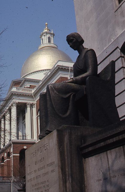 mary dyer Mary barrett dyer, 1611-1660, is commonly known as the subject of a statue outside the boston statehouse in massachusetts, and that she was hanged by the puritan government there in 1660.