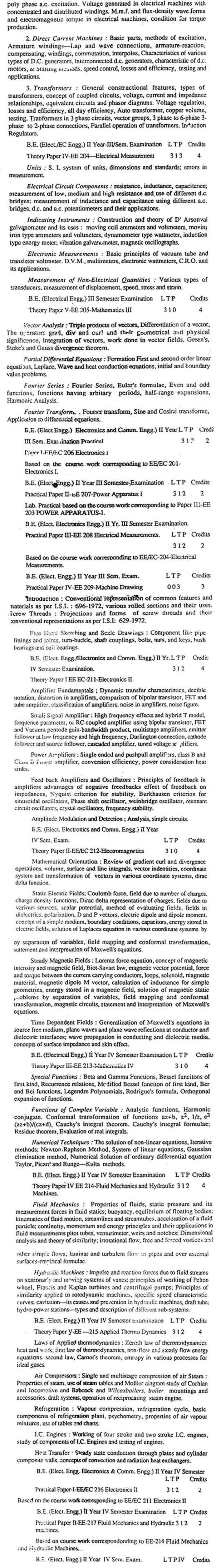 DTU Syllabus -  Electrical Engineering