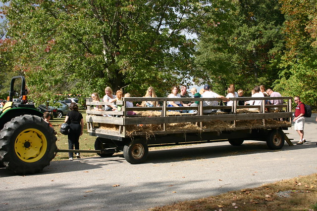 Hay wagon - The 2014 Eagle Festival at Mason Neck State Park