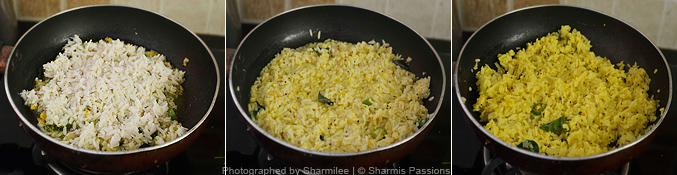 How to make aval upma - Step2