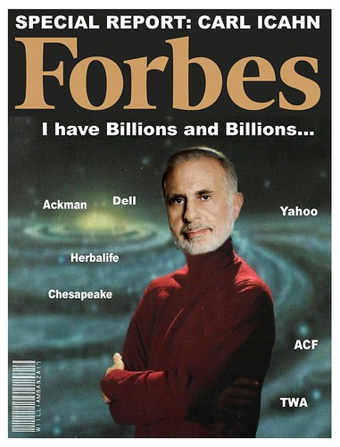 FORBES COVER- CARL ICAHN by Colonel Flick/WilliamBanzai7