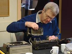 Jaap reassembling the Imperial D typewriter