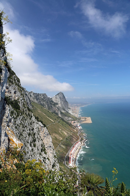 Eastern Side of the Rock of Gibraltar from Mediterranean Steps