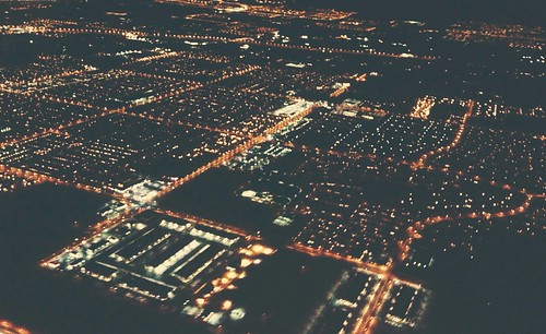 Los Angeles, view from the window seat