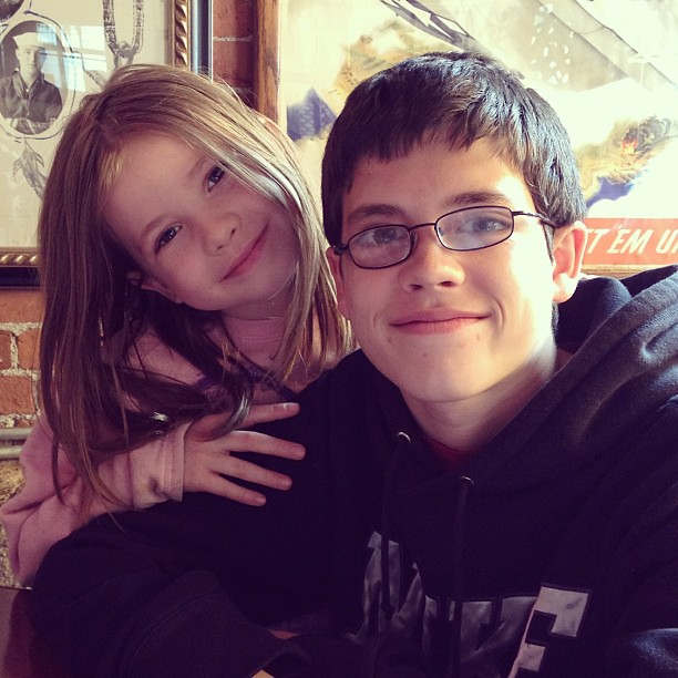 I'm a lucky mom.  These are two great kids.  :) #latergram