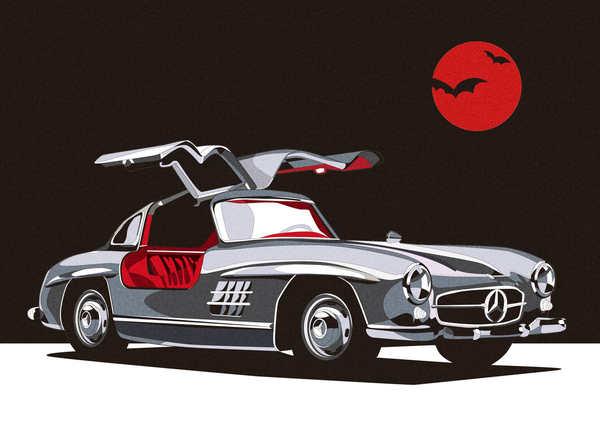 dibujo de autos clásicos