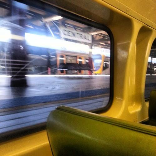 Arrival at Sydney Central station