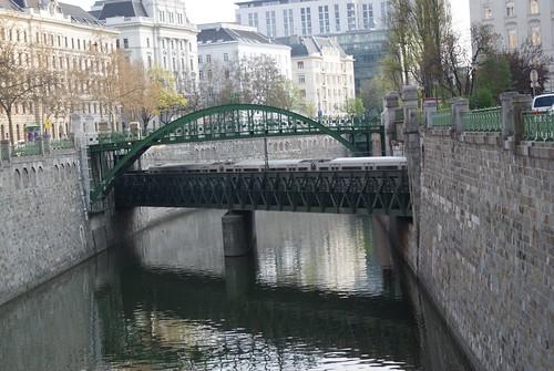 Bridge over the canal near Radetskyplatz