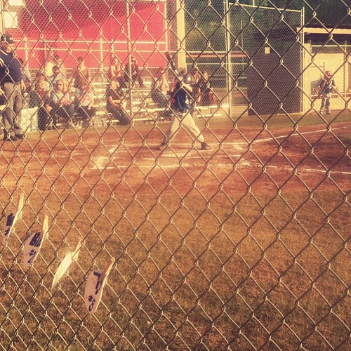 this game is brutal, but that kid at bat sure is cute. #firstloss