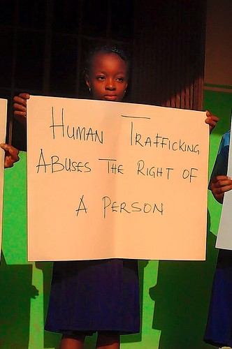 St Louis Nursery and Primary School in Bida recently spent a day where they focussed on the issue of Human Trafficking