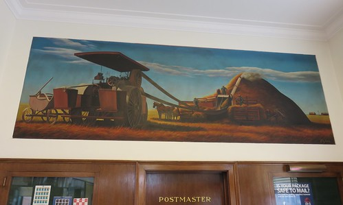 minnesota mn postoffices stearnscounty saukcentre newdeal mural richardjansen