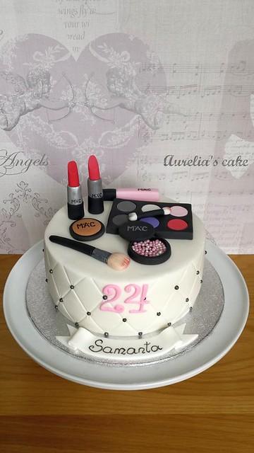 MAC Cosmetics Cake by Aurelia Czarnecka of Aurelia's Cake