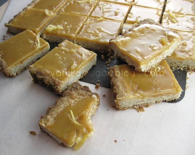 ginger crunch bars