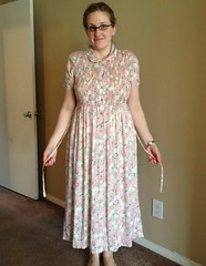 Frumpy Floral Dress Refashion - Before