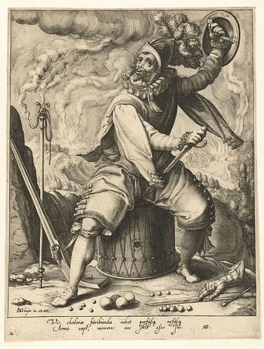021-El temperamento colérico (elemento fuego), Jacob de Gheyn (II), 1596-Rijksmuseum API Collectie