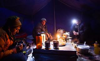 Camping next to Pangong Lake, Ladakh
