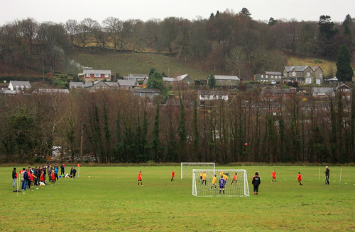 Local football match by Helen in Wales