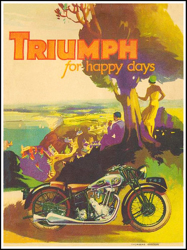 1933 Triumph Motorcycles for happy days by bullittmcqueen