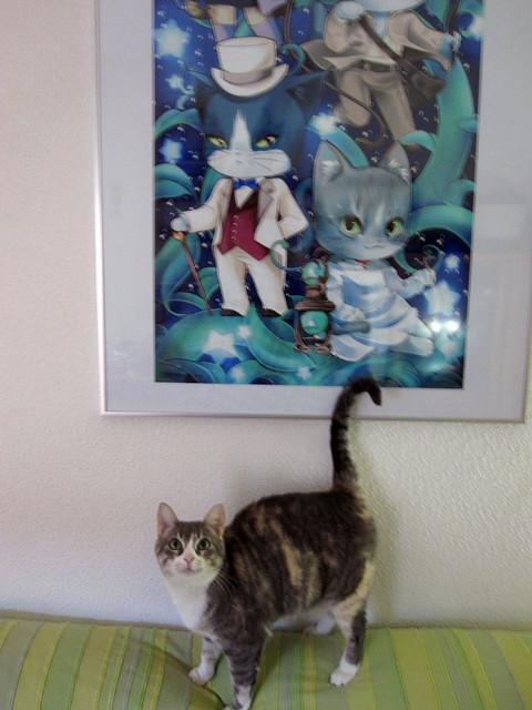 Hima y su cuadro