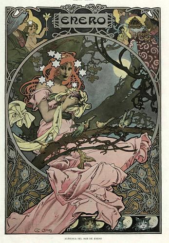 001-Alegoria del mes de Enero- Gaspar Camps-Revista Álbum Salón-Enero de 1901 -Hemeroteca de la Biblioteca Nacional de España