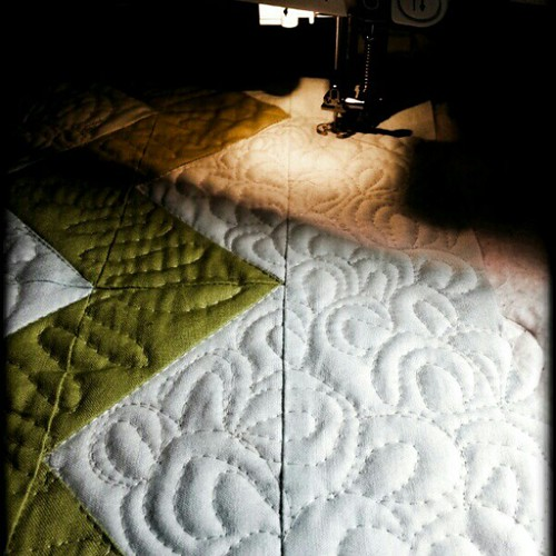 Hubby took over my TV so I am at it again #quilting