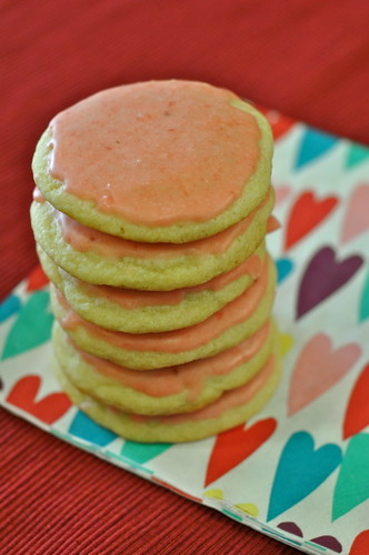 Strawberry Frosted Cookies