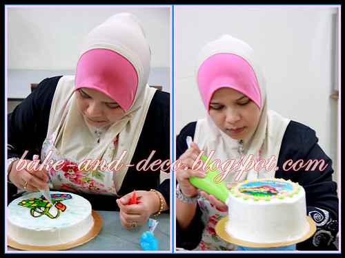 Baking & Deco Class: Basic Buttercream Cake & Drawing on Buttercream Cake ~ 20 July 2012